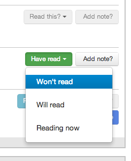 Reading intentions in the list view